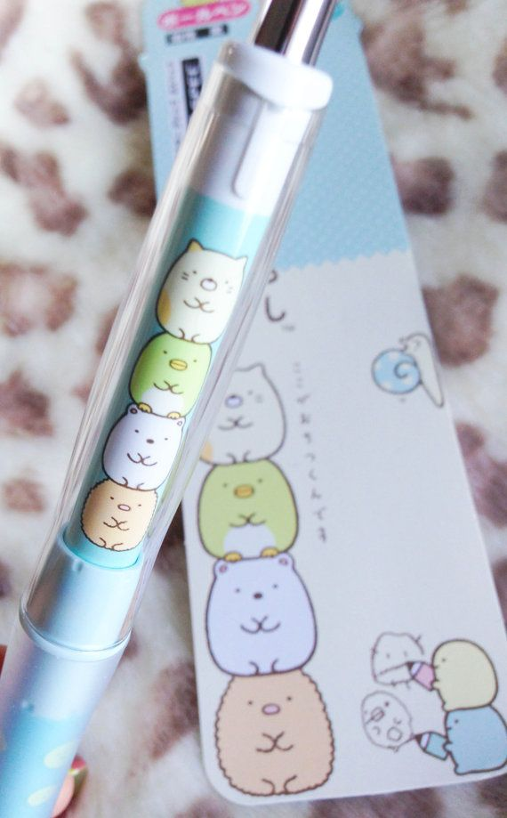 Sumikko Gurashi : Dr Grip ball pen by WasabiMint on Etsy