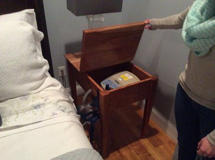 Cpap Bedside Table Building Diy Diy Nightstand Bed