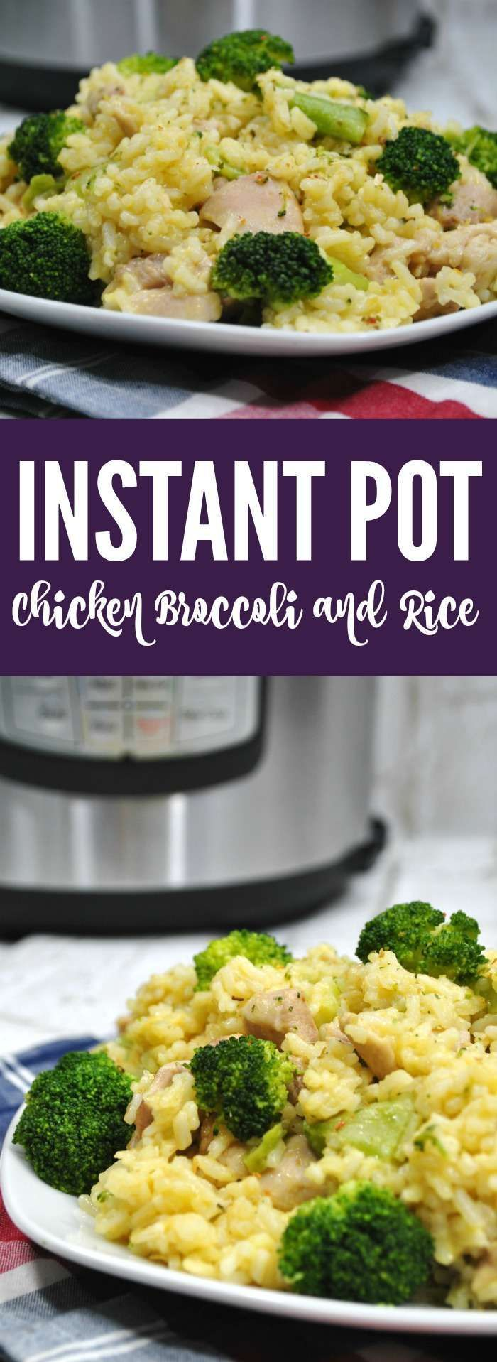 Instant Pot Chicken Broccoli Rice Recipe Simple And Easy