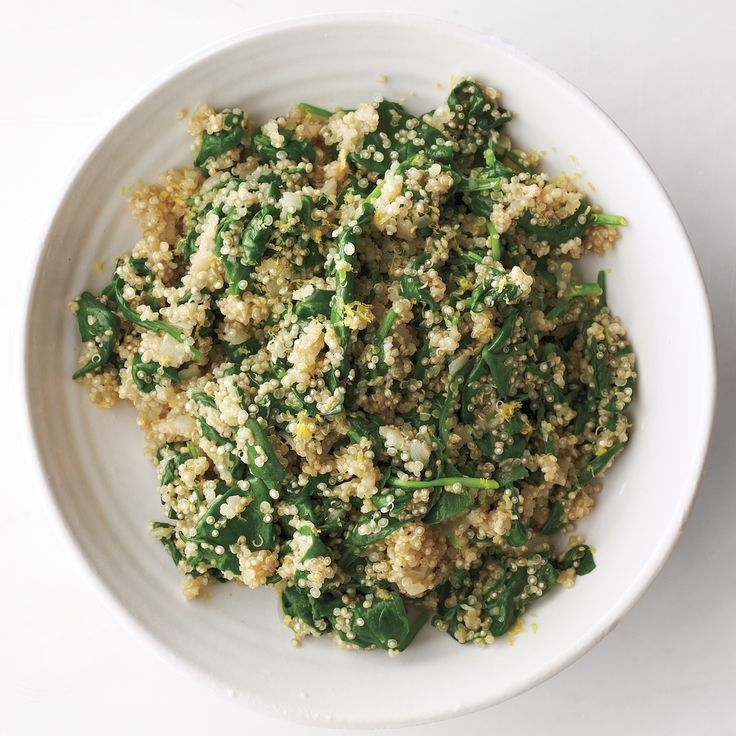 Quinoa-and-Spinach Pilaf | Recipe | Quinoa, Spinach and Quinoa Pilaf