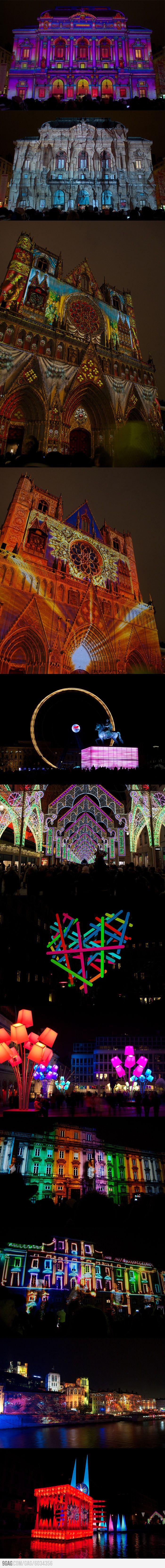 Festival of Lights 2012 in Lyon, France