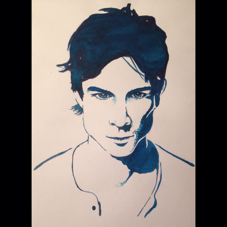 Ian somerhalder watercolor