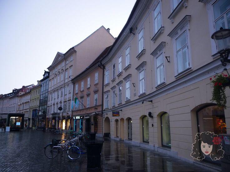 City Centre of Ljubljana. Slovenia, June 2016.
