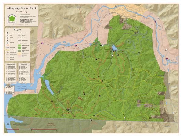 Allegany State Park trail map.
