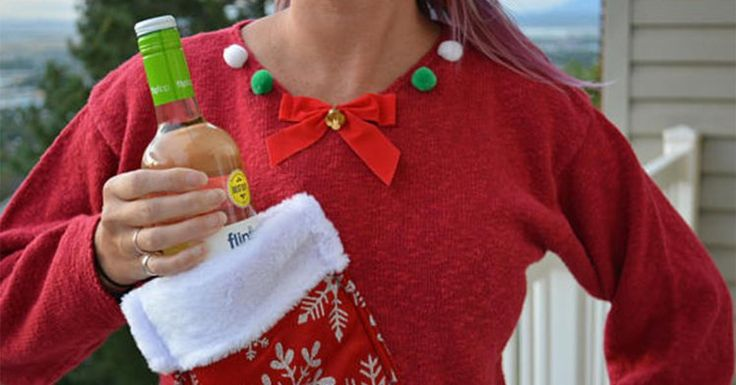 You can now buy an ugly Christmas jumper with a stocking for your wine
