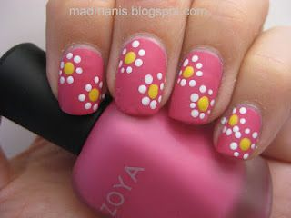 I love my dotting tool! Beginner Nail Art--How to use your dotting tool. #madmanis