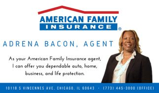 Adrena Bacon - Agent - American Family Insurance ~ As your American Family Insurance agent, I can offer you dependable auto, home, business, and life protection. http://www.abaconagency.com/