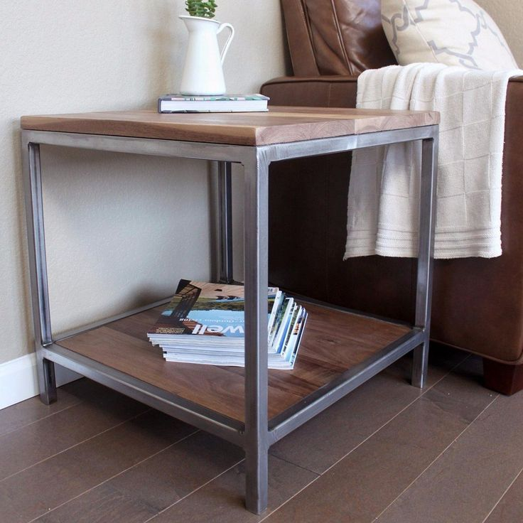 Wood And Metal Aiden End Table: Best 25+ Wood And Metal Ideas On Pinterest
