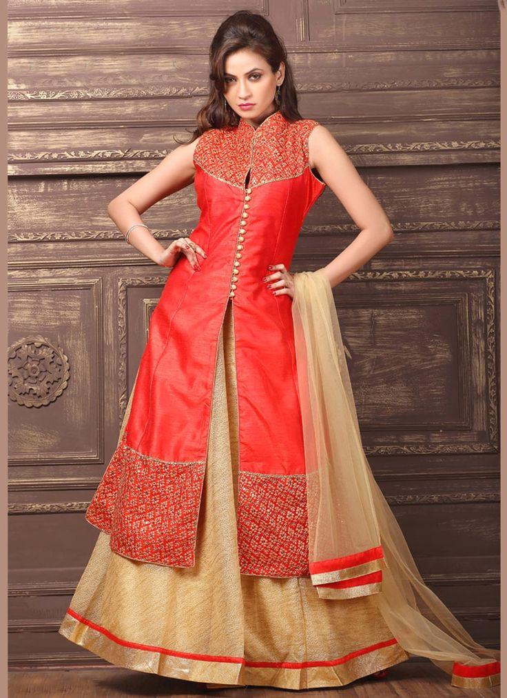 Buy unique collection of designer lehenga choli online in india, usa, uk, canada. Buy this deserving dupion silk lehenga choli for wedding.