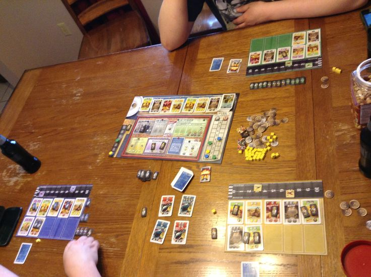 The Manhattan Project. Fun, bomb building worker placement game. Currently getting spanked by Troy and Martin.