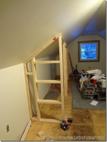 ❧ adding a closet to attic bedroom.