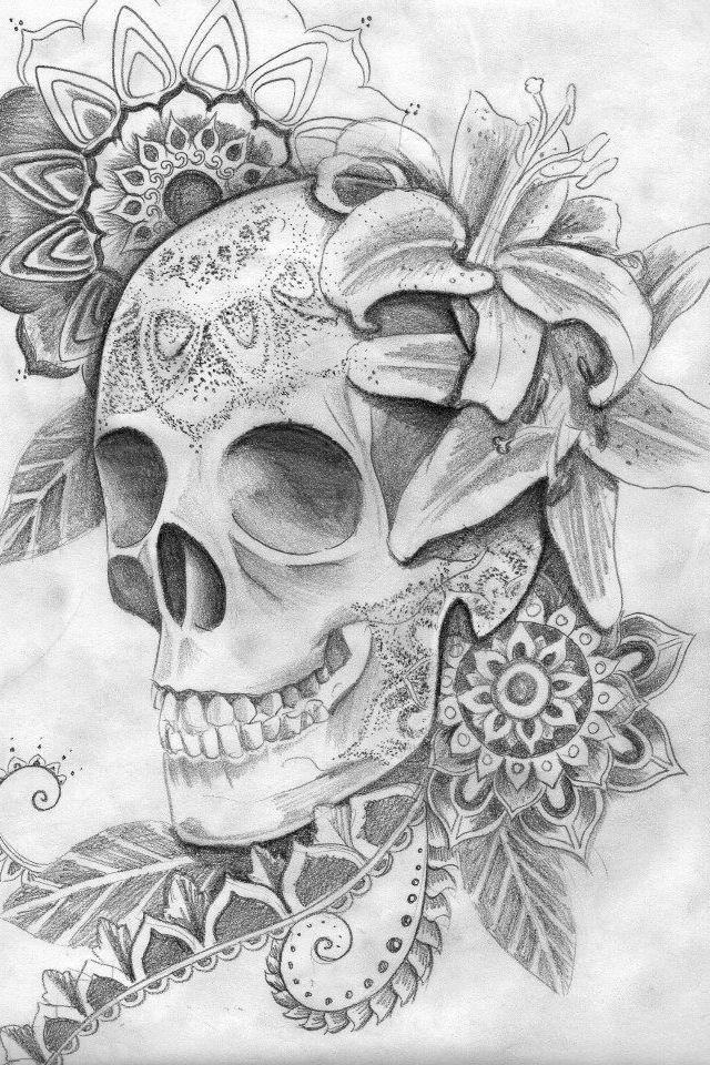 Dotwork skull                                                                                                                                                     Mais