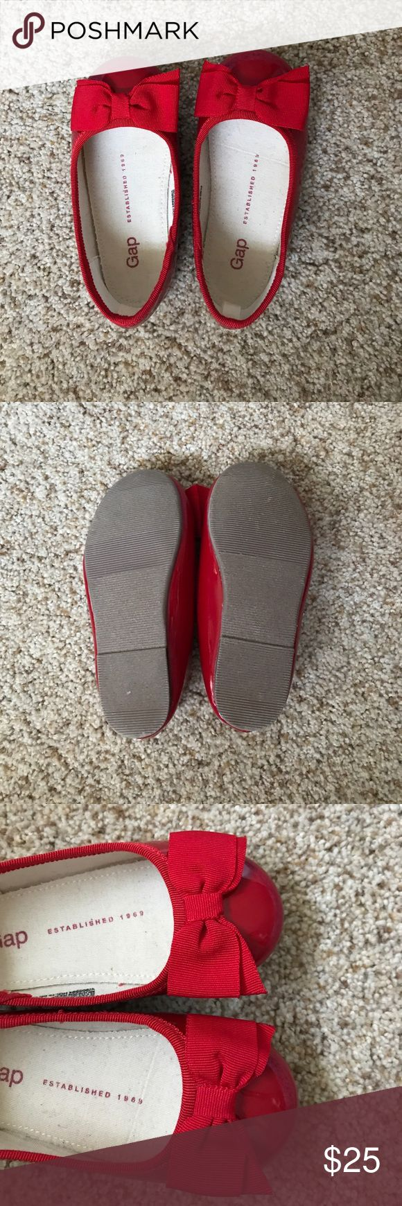 Toddler girl red flats Red flats with a bow! Brand new! GAP Shoes Dress Shoes