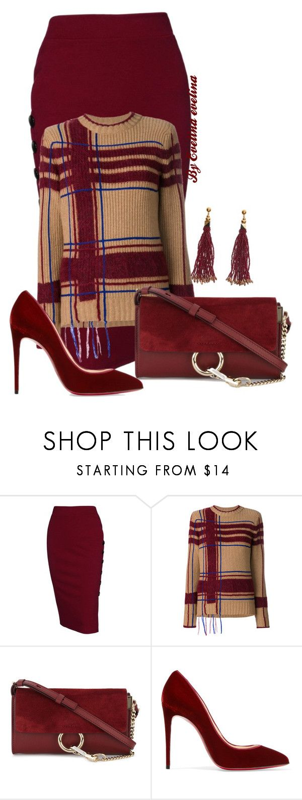 """""""EVE"""" by evelina-er ❤ liked on Polyvore featuring Tory Burch, Chloé, Christian Louboutin and Nocturne"""