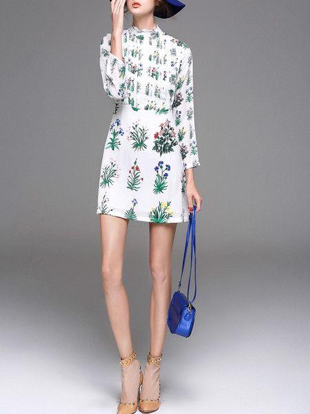 White Elegant Dyed Linen Mini Dress