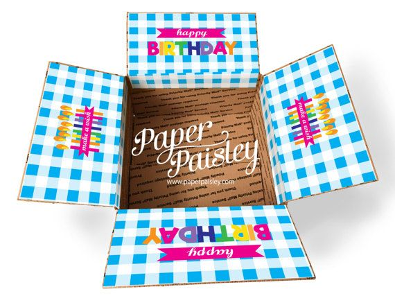 Entretien trousse boîte autocollant - joyeux anniversaire Buffalo vérifier / anniversaire Care Package / missionnaire Care Package / militaire Care Package