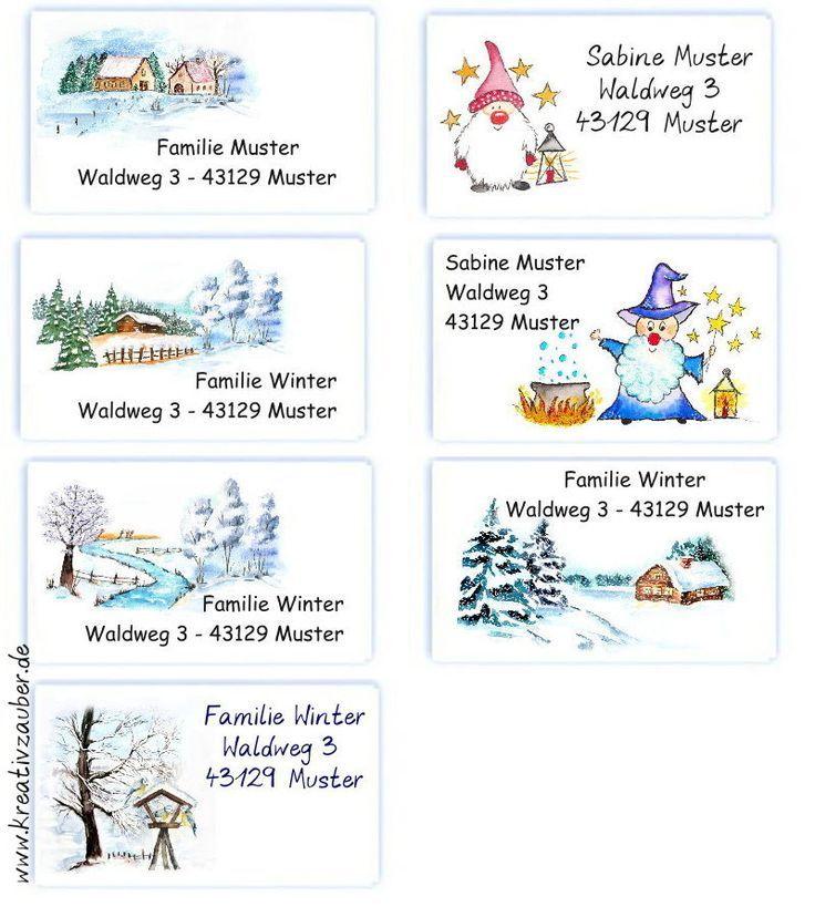 Adressaufkleber Briefpapier Winter Weihnachten Neuheiten Aufkleber Briefpapier Adressaufkleber