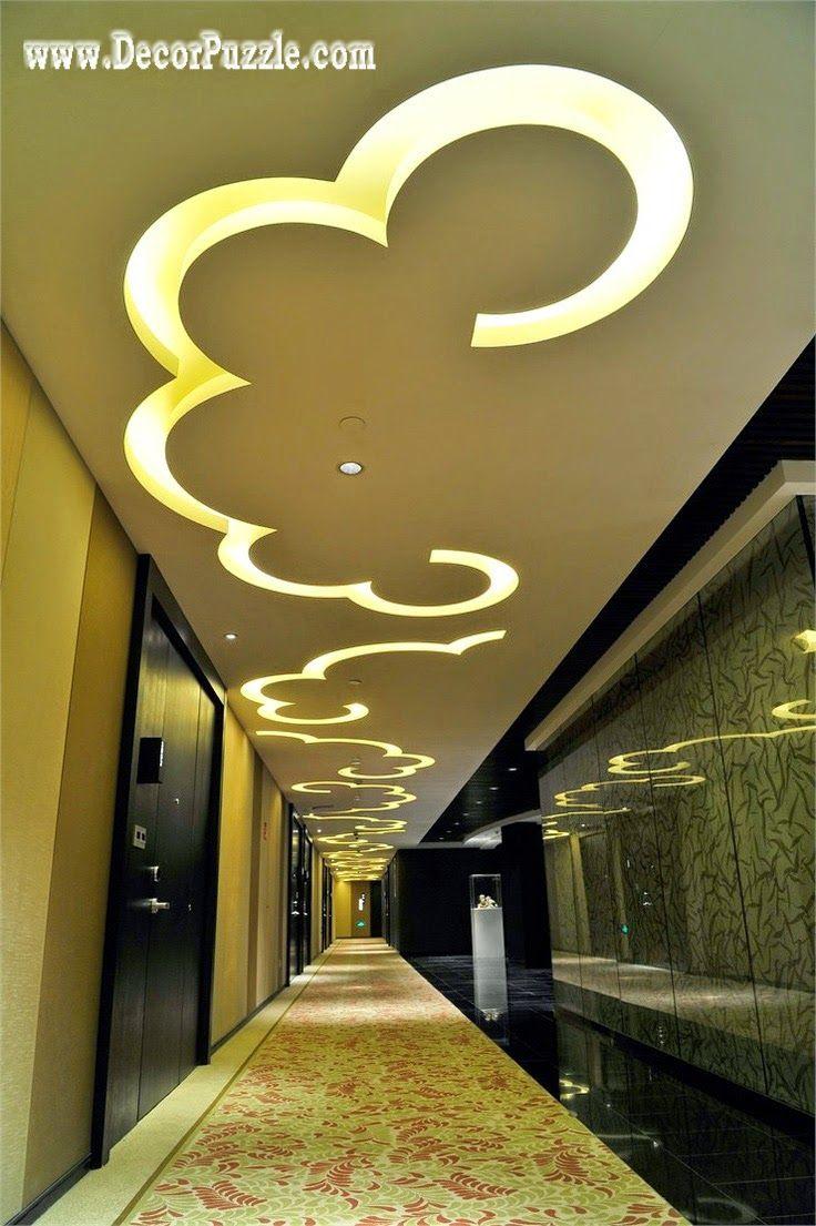 Ceiling Design Unique Led Ceiling Lights For Hallway False Ceiling Design 2015