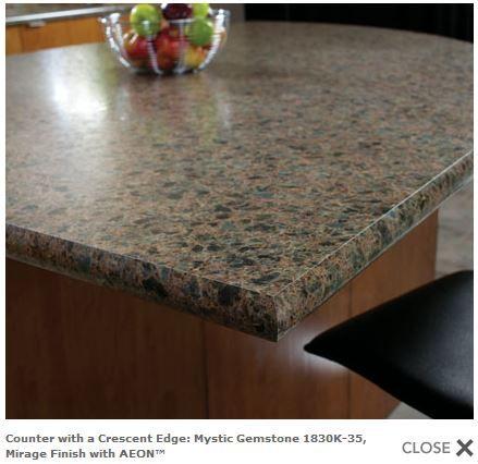 Wilsonart Mystic Gemstone 1830K 35, Crescent Edge · Laminate Kitchen  CountertopsCounter ...