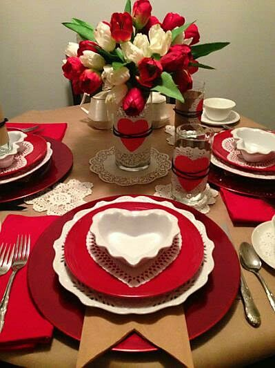 Valentineu0027s Day Table Settings and Decor & The 21 best Valentineu0027s Table Settings images on Pinterest | Place ...