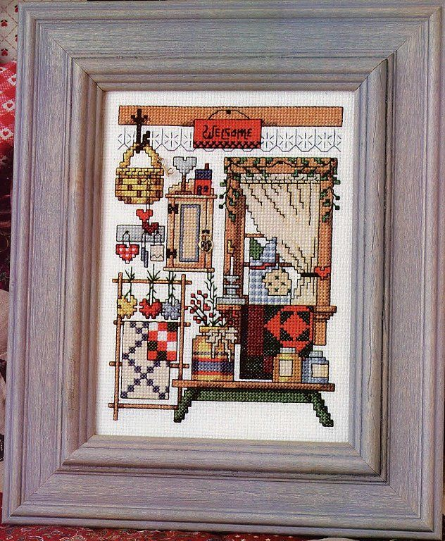 58 best cross stitch in the house images on pinterest for Cross stitch kitchen designs