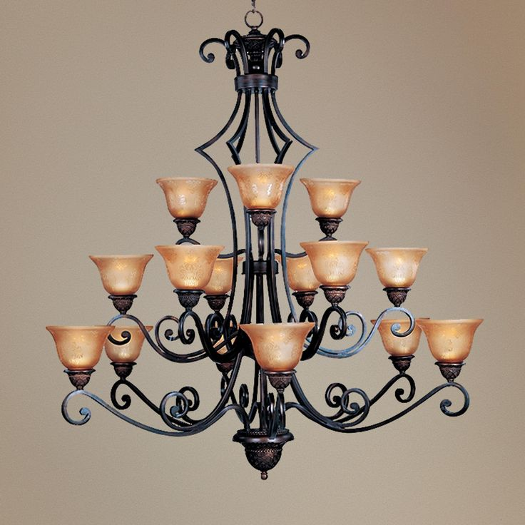 """Symphony Collection 51"""" High 15 Light Large Chandelier -"""