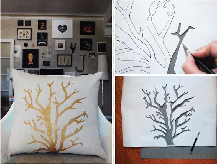 Best 20+ Stenciled pillows ideas on Pinterest | Stencil pillow ...