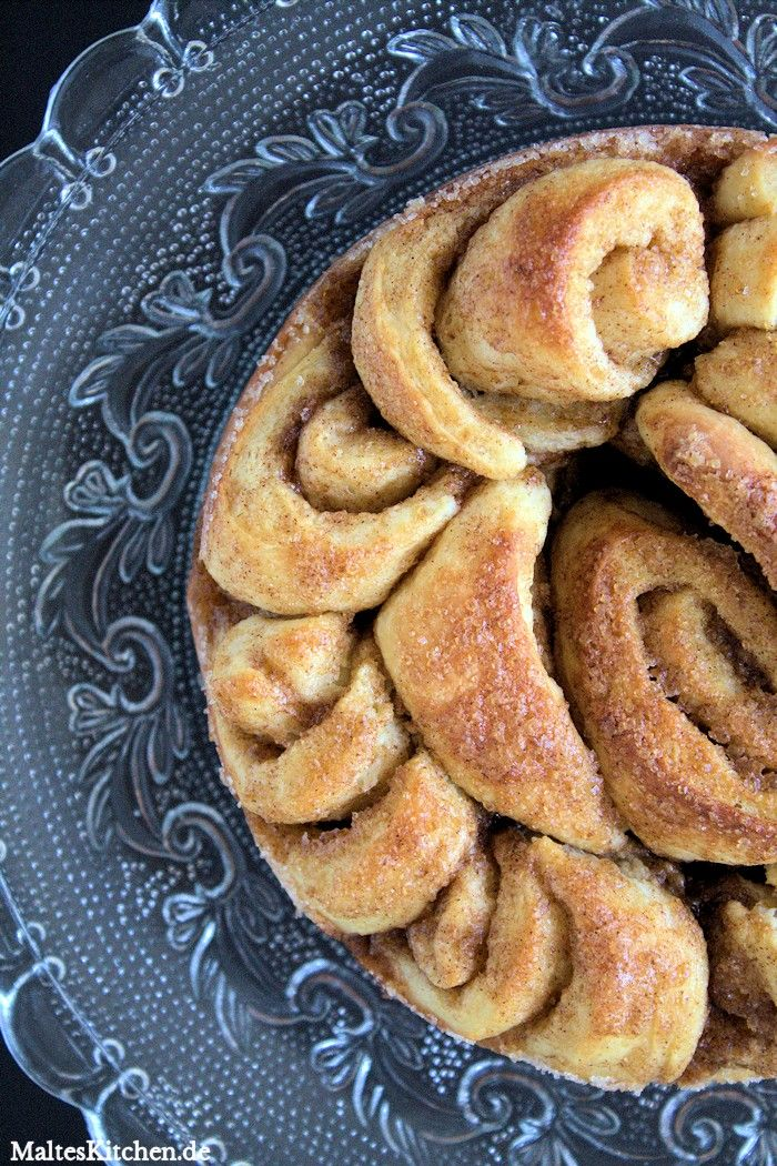 Super leckere Zimtschnecken gebacken in einer Springform!   malteskitchen.de