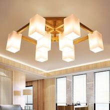 Modern Glas shade plafond verlichting voor woonkamer slaapkamers houten plafondlamp armatuur hout verlichtingsarmaturen nieuwe ontwerpen lamp
