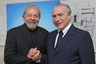 CLICK NA IMAGEM  : Lula e Temer estão com o discurso afinado