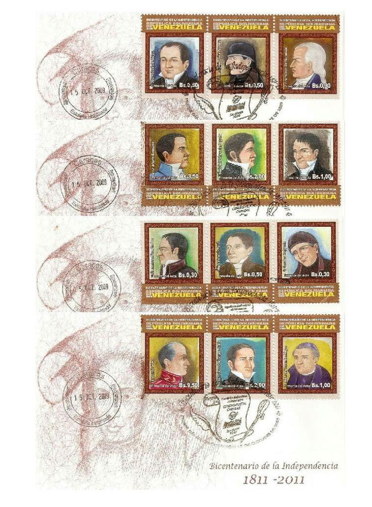 Venezuela: Bicentenarios firmantes del acta de independencia (marrón) 2009