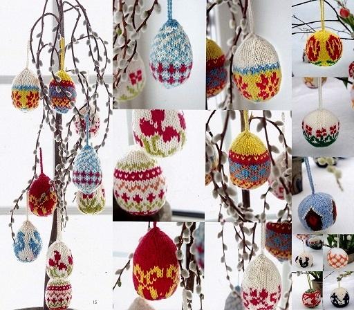 knitting easter balls
