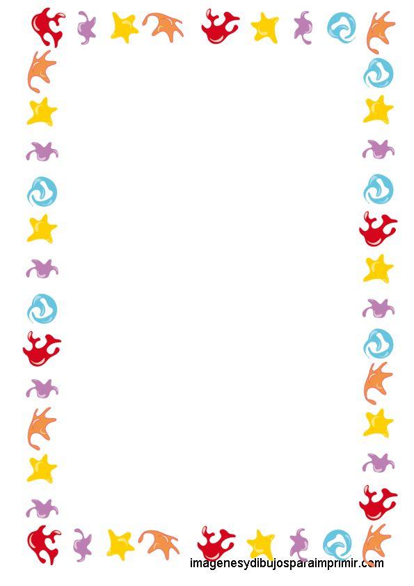 Animalitos del mar Folios infantiles para imprimir