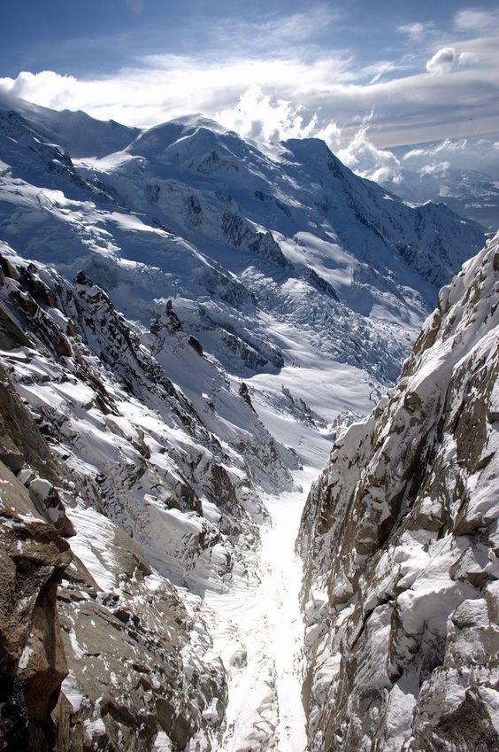 Gorgeous sight of Chamonix, France.