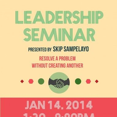 리더쉽 세미나 포스터