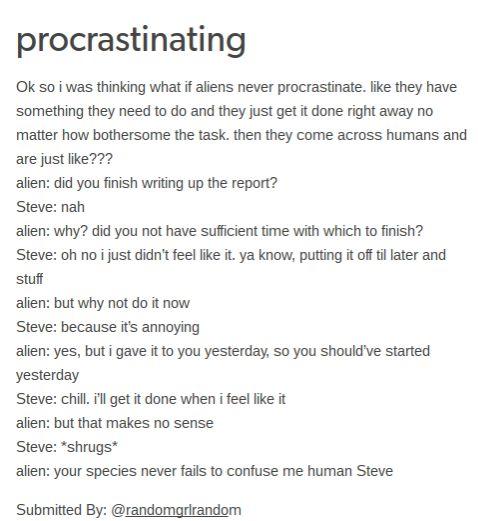 Humans Are Weird / Space Australia Procrastination