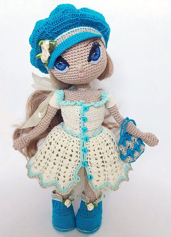 The lovely world of Ricorumi - 4 amigurumi - Dress Me IN FRENCH x1 ... | 787x570