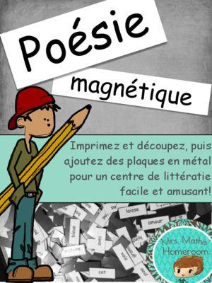 Poésie magnétique (Magnetic Poetry Kit in French) from Mrs. Mathis' Homeroom on TeachersNotebook.com -  (8 pages)  - Ensemble de plus de 1 000 mots à imprimer pour créer un centre de littératie magnétique! More than 1 000 words to create a magnetic litteracy centre!