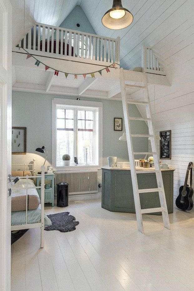 Love this idea for a teenagers bedroom retreat