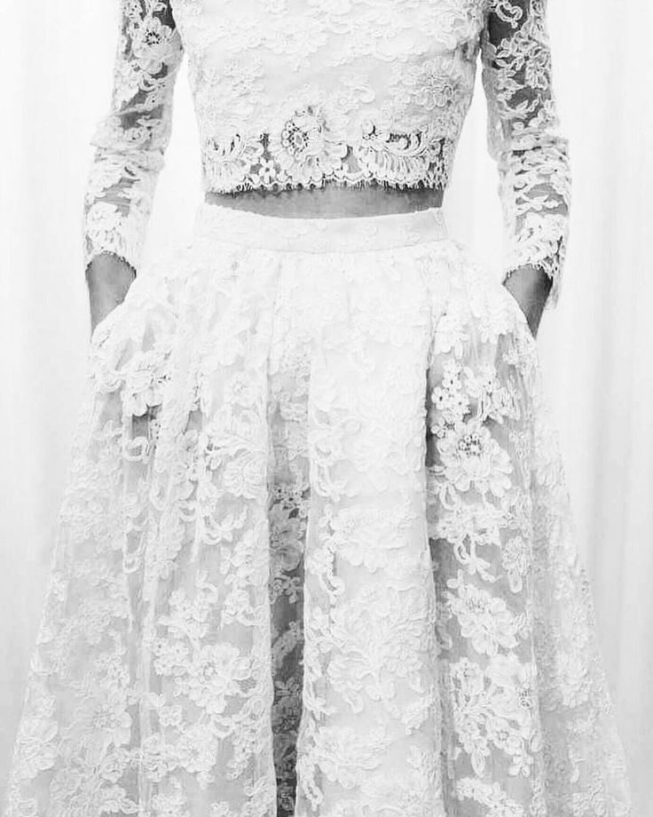 The two piece wedding dress trends into 2017! #MossDenver #weddingdress