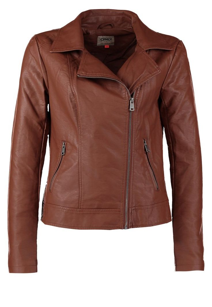 ONLY ONE Faux leather jacket beige