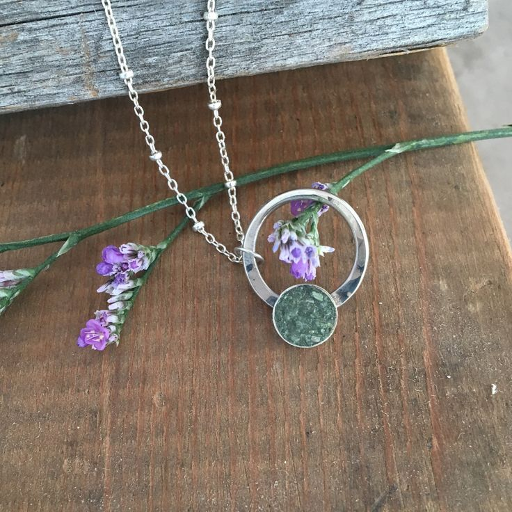 Full Circle Terrazzo Necklace Necklace, Jewelry, Green