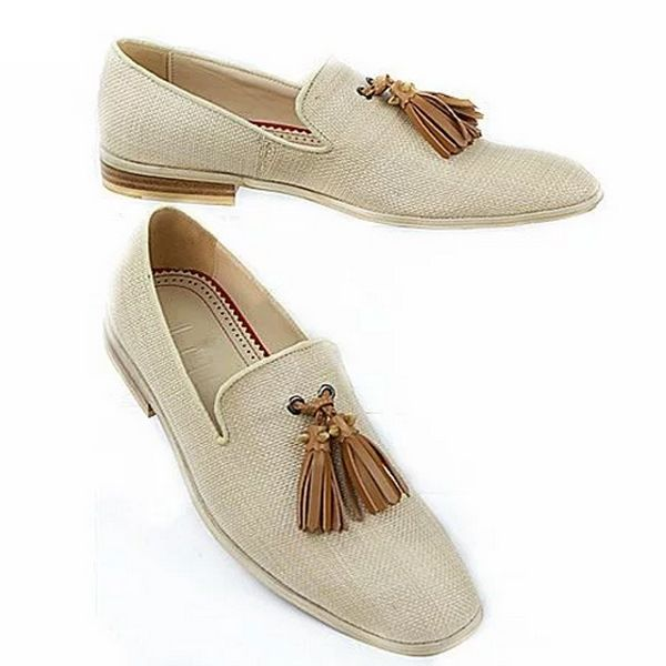 77.90$  Buy here - Handmade Mens Luxury Dress Shoes LttL Brand Italian Mens Tassel Loafers Smoking Slippers Men Red Bottoms Fashion Zapatos Hombre  #aliexpressideas