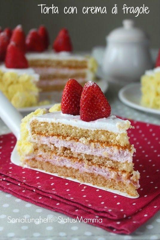 Torta viennese con crema di fragole ricetta dolce facile veloce freddo Statusmamma gialloblogs giallozafferano economica festa della mamma veloce passo passo