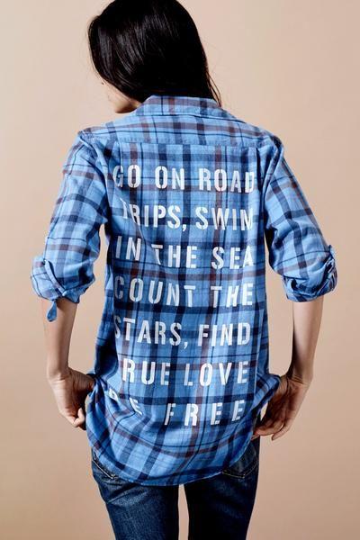 Sundry To-Do List Flannel Shirt