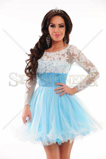 Rochie Sherri Hill 21234 Blue