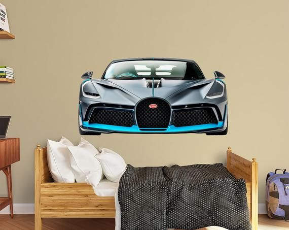Bugatti Wall Decal Car Wall Decal Supercar Decal Playroom Wall Etsy Kids Wall Decals Kids Room Wall Decals Nursery Wall Decor
