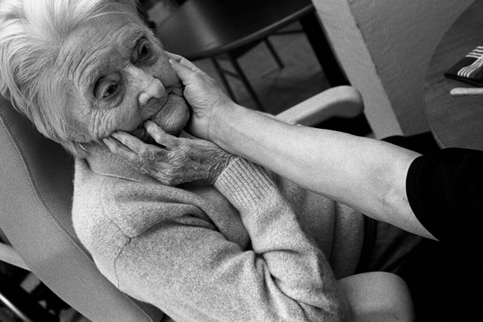 Emmanuel Smague Old age in a nursing home. France.