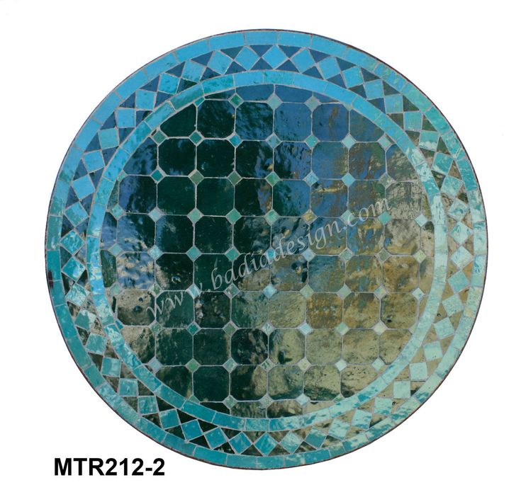 Badia Design Inc Store - 24 Inch Round Moroccan Tile Table - MTR212, $225.00 (http://www.badiadesign.com/24-inch-round-moroccan-tile-table-mtr212/)