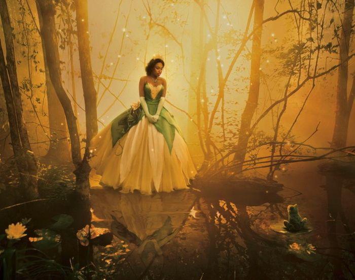 Annie Leibovitz: Дженнифер Хадсон («Принцесса и лягушка»)